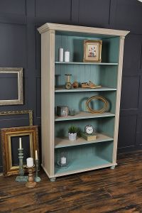 Shabby Chic Pine Bookcase with Bun Feet artwork | Annie ...