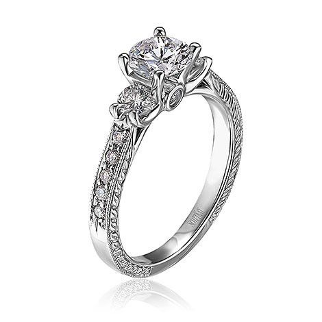 Scott Kay Ladies Crown Engagement Ring With Engraved