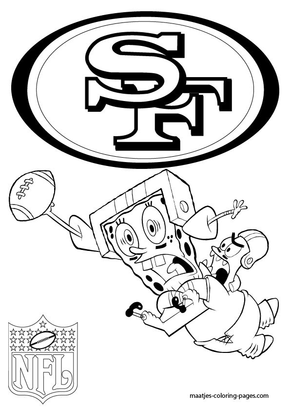More San Francisco 49ers coloring pages on: maatjes