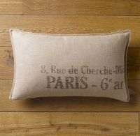 Paris Address Pillow Cover Lumbar