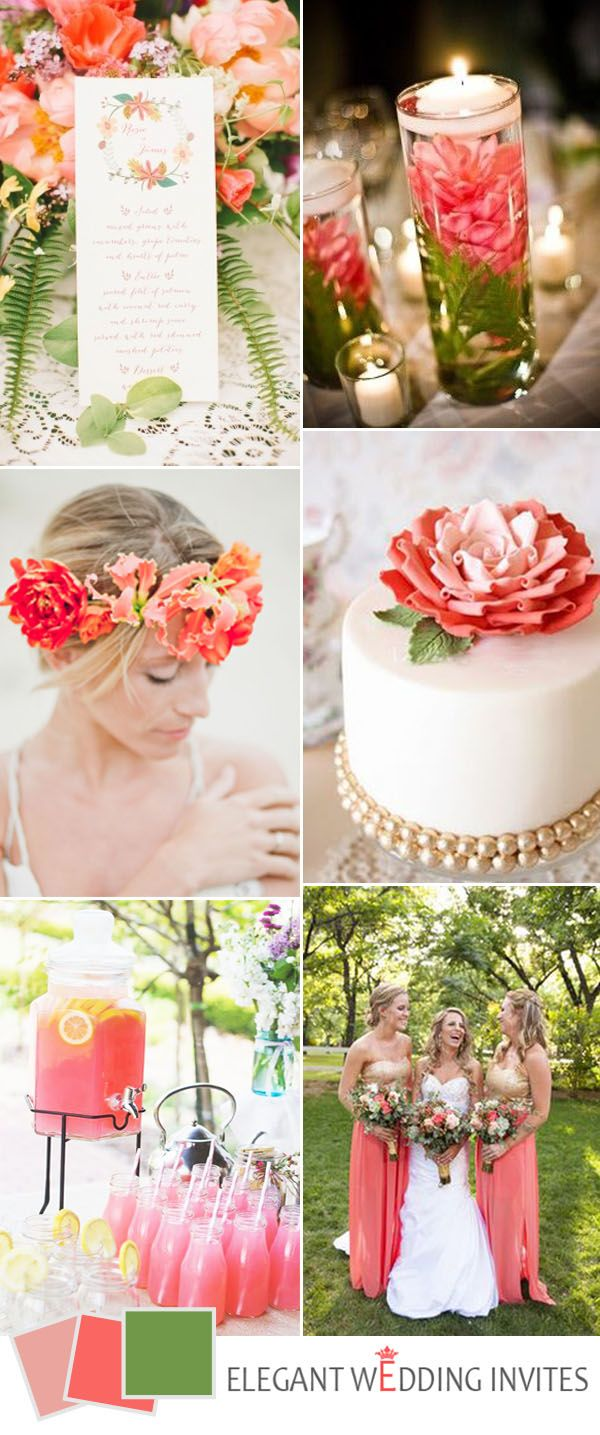 17 Best ideas about Coral Wedding Decorations on Pinterest