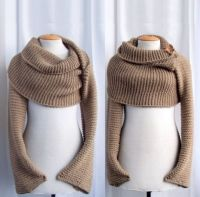 Sweater scarf / shawl with sleeves at both ends. FREE ...
