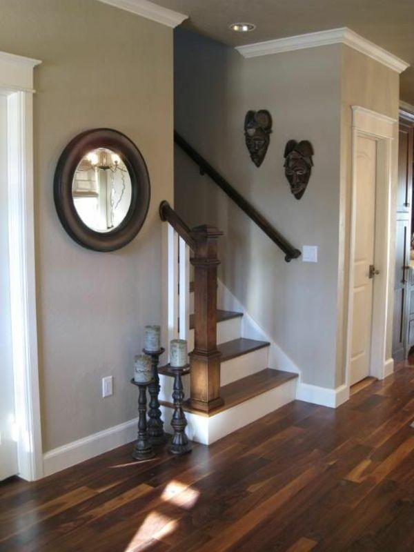 Tapeten Landhausstil Flur Haus Renovieren Den Eingangsbereich ... Tapeten Landhausstil Wohnzimmer