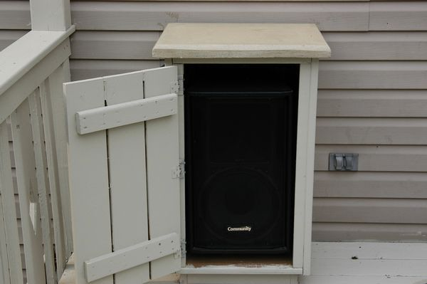 Outdoor Deck Speaker Enclosures  Outdoor DIY  Pinterest