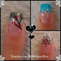 3 Winter French Tip Nail Designs | Winter Nail Art Ideas # ...