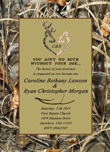 Wedding invitations Deer heads and Deer on Pinterest