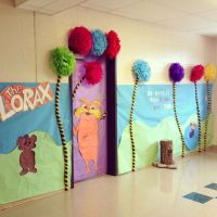 Lorax door/hallway decor for Read Across America Week