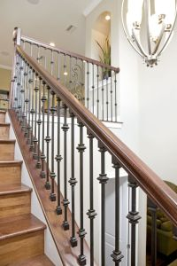 Bakerfield Luxury Homes Wrought Iron Stairs | Bakerfield ...