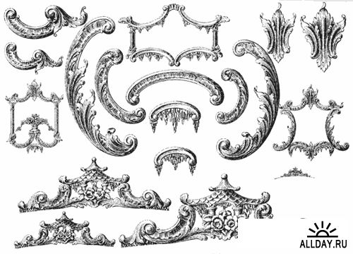 Ornamental Borders, Scrolls and Cartouches in Historic