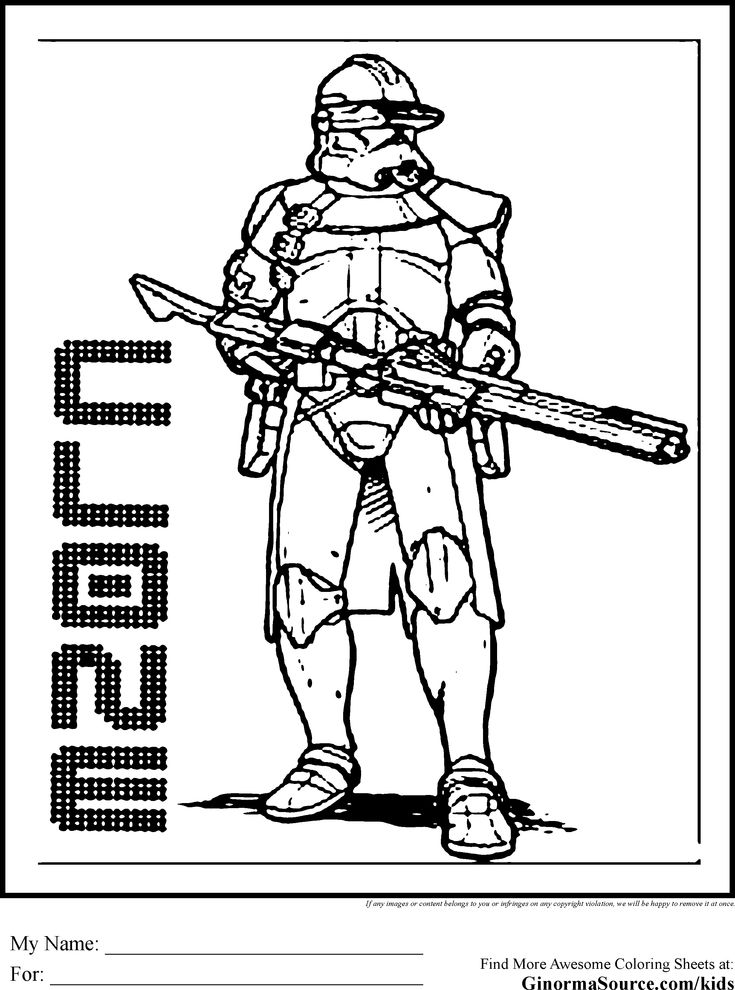 star wars coloring pages clone  coloring pages