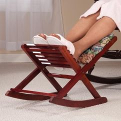 Foldable Rocking Chair Glider New ~ Footrest Footstool Ottoman Stool Folding | Stool, Ottomans And Stools