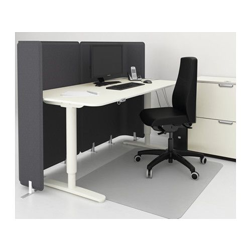 BEKANT Reception Desk Sitstand White Privacy Panels
