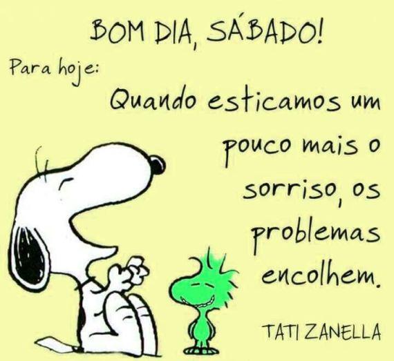 Bom dia, sábado Snoopy