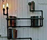 17 Best images about Rustic Hanging Bookshelves on