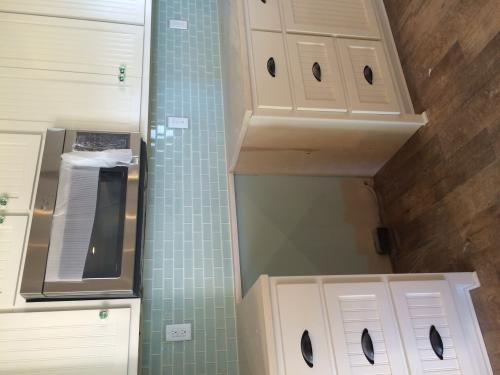 glass subway tile kitchen sink types null arctic ice 12 in. x 8 mm mesh ...