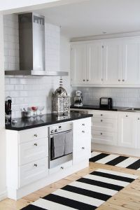 25+ best ideas about Black white kitchens on Pinterest