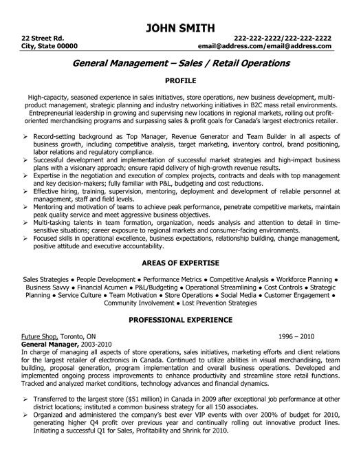 Professional Sales Resume Examples