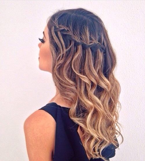 25 Best Ideas About Waterfall Braid Curls On Pinterest