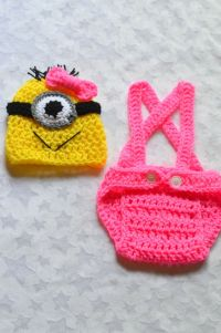 Baby Girl Despicable Me Crochet Outfit. by ChildishDreams ...