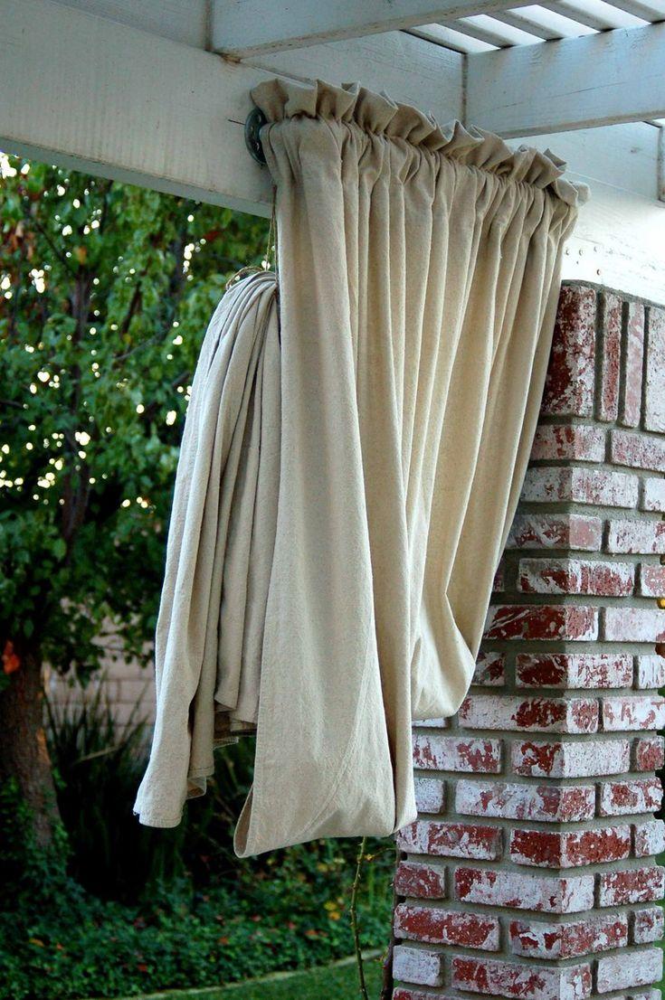 Heather Bullard Diy Drop Cloth Drapes Outdoor Living