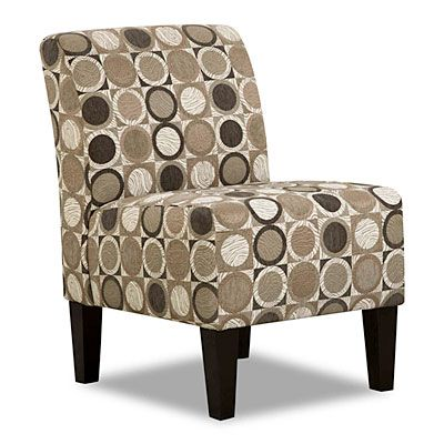 Simmons Armless Accent Chair  Patchouli Pewter at Big