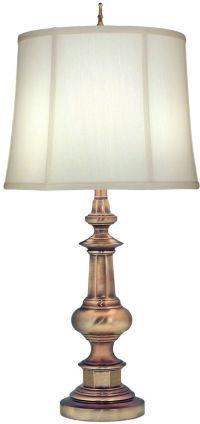 33 inchh Genuine Stiffel 3-Way Table Lamp Antique Brass ...