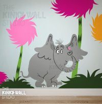 Lorax character Wall decal Choose 1 - Dr seuss - Horton ...