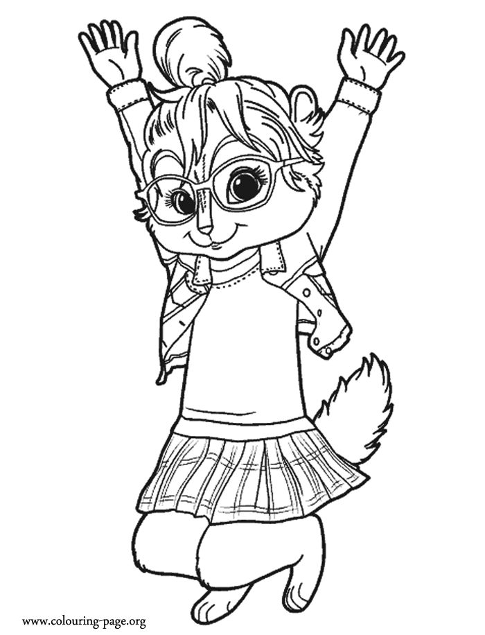 17 Best images about Coloring Pages (Alvin & The Chipmunks