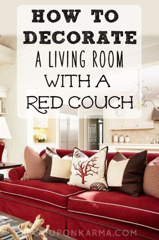 How To Decorate A Living Room With A Red Couch  Coupon