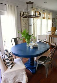 25+ best ideas about Blue dining tables on Pinterest | Diy ...