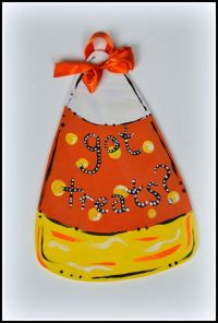 Candy Corn Door Hanger Outdoor Halloween Decoration by ...