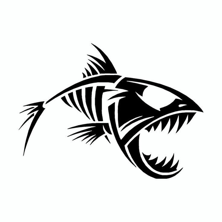 Fish Bones Decal Sticker