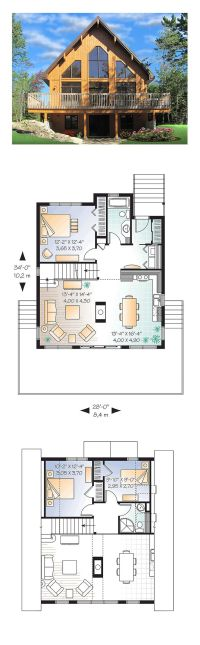 25+ best ideas about A Frame House Plans on Pinterest