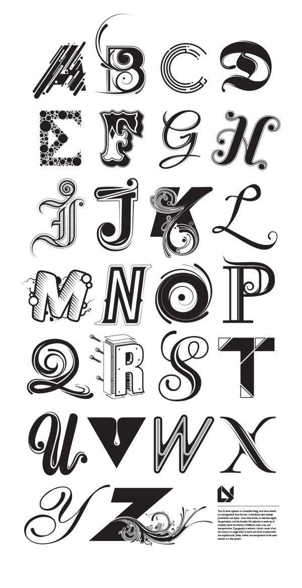 25+ melhores ideias de Estilos de letras no Pinterest