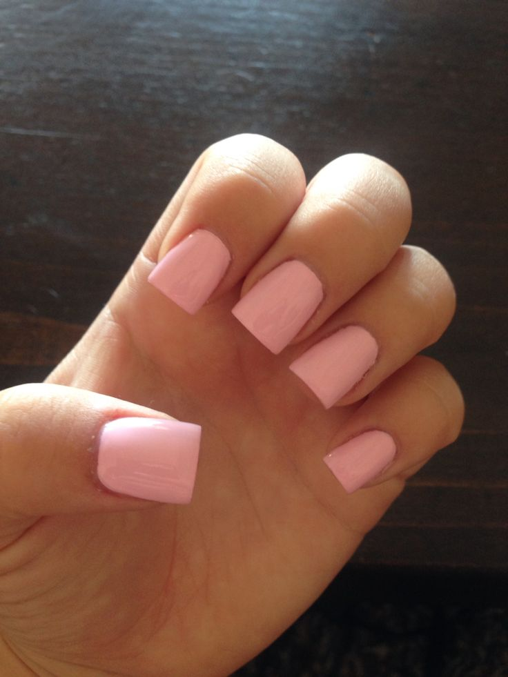 Mod About You OPI nail polish light pink acrylic nails