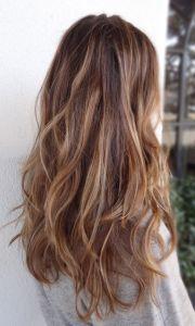 brunette highlights hair & makeup