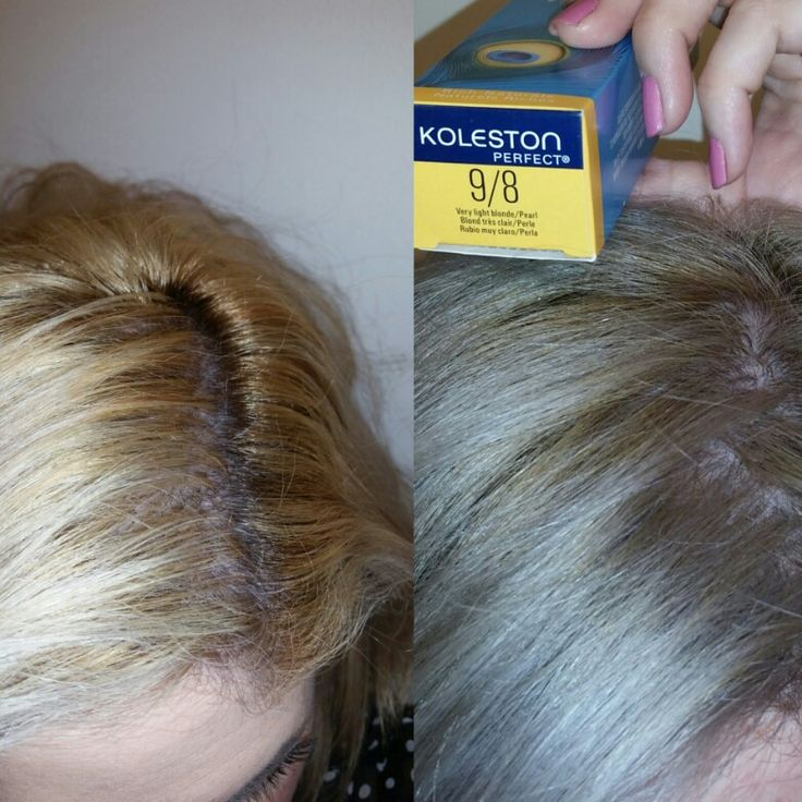 I Applied On Towel Dried Hair Wella Koleston 98 With