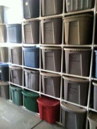 DIY Saturday  PVC Tote Storage Organizer | Shelves, Pvc ...