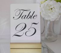 1000+ ideas about Gold Table Numbers on Pinterest   Table ...