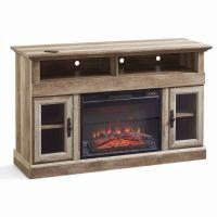 TV Entertainment Center Fireplace Rustic Heater Media ...