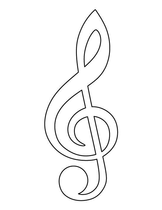 printable treble clef