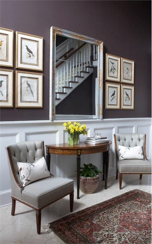 Nice wainscoting and seating area in this entryway entryways foyers homechanneltvcom