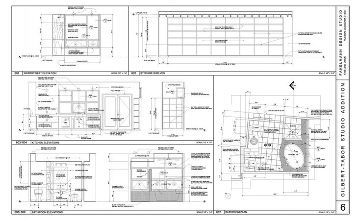 Interior Elevations And Bathroom Plan Interior Sections