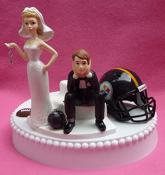 Wedding Cake Topper Pittsburgh Steelers Football Themed