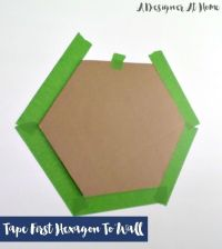 How To Tape & Paint Hexagon Patterned Wall | Paint colors ...
