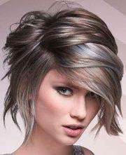 wet short layered hairstyles
