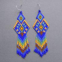 Native American Peyote Bead Patterns | ... blue seed bead ...
