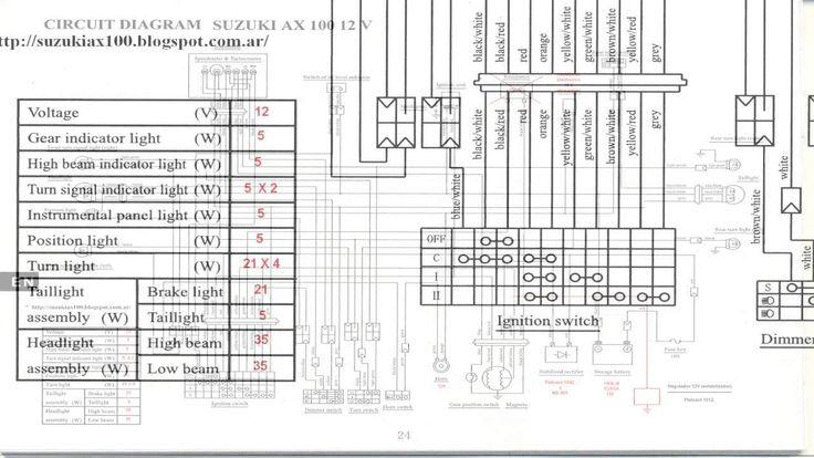 suzuki gt750 wiring diagram suzuki ax wiring diagram