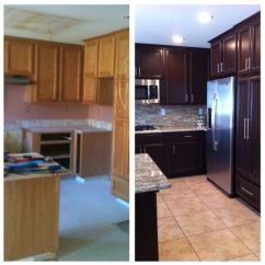 Paint Or Stain Kitchen Cabinets Exhaust Cleaning Before And After With Paint, Cabinet Makeover ...