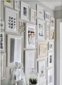 white frame collage on grey wall | Bedroom | Pinterest ...